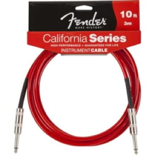 Accessoire pour Guitare - Cable Fender 3 meters California instrument Candy Apple Red - Accessoire - di-arezzo.co.uk