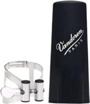 Ligature VANDOREN® pour Clarinette SI bémol - Pewter Ligature and Bb Clarinet Plastic Cover - M Series / - Accessoire - di-arezzo.com