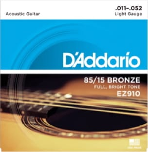 Cordes pour Guitare Acoustique - ADDARIO EZ910 String Set - Light 11-52 - GUITAR FOLK - Accessoire - di-arezzo.com