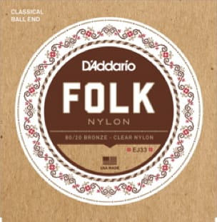 Cordes pour Guitare - ADDARIO FOLK NYLON String Set - Normal / Clear-Bronze 80/20 - Accessoire - di-arezzo.com