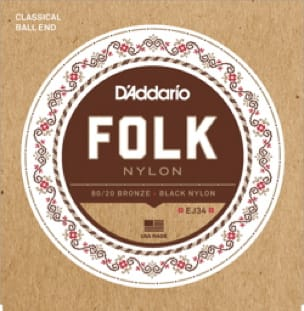 Cordes pour Guitare - ADDARIO FOLK NYLON String Set - Normal / Black-Bronze 80/20 - Accessoire - di-arezzo.co.uk