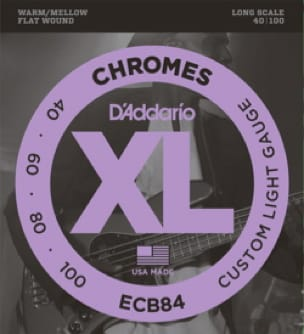 Cordes pour Guitare - D'Addario CDDECB84 4 String Set Chromes Custom Light Gauge for Bass Guitar - Accessoire - di-arezzo.co.uk