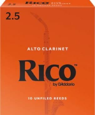 D'addario Rico - Anches Clarinette Alto 2.5 - laflutedepan.com