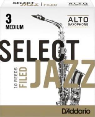 D'Addario Select Jazz Filed - Anches Saxophone Alto 3.0 - laflutedepan.com