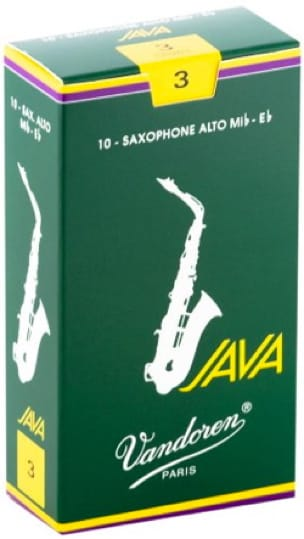 Anches pour Saxophone Alto VANDOREN® - Box of 10 reeds VANDOREN JAVA series for SAXOPHONE ALTO force 3 - Accessoire - di-arezzo.co.uk