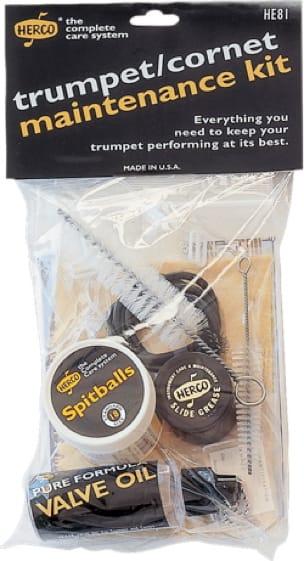 Accessoire pour Instruments à vents Cuivres - HERCO maintenance kit for TRUMPET or CORNET - Accessoire - di-arezzo.co.uk