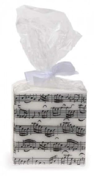 Cadeaux - Musique - Square candle - Writing by Jean-Sébastien BACH - Accessoire - di-arezzo.com