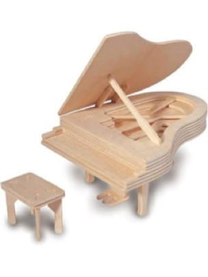 Jeu musical pour enfant - Wooden piano to build Kit - Accessoire - di-arezzo.co.uk