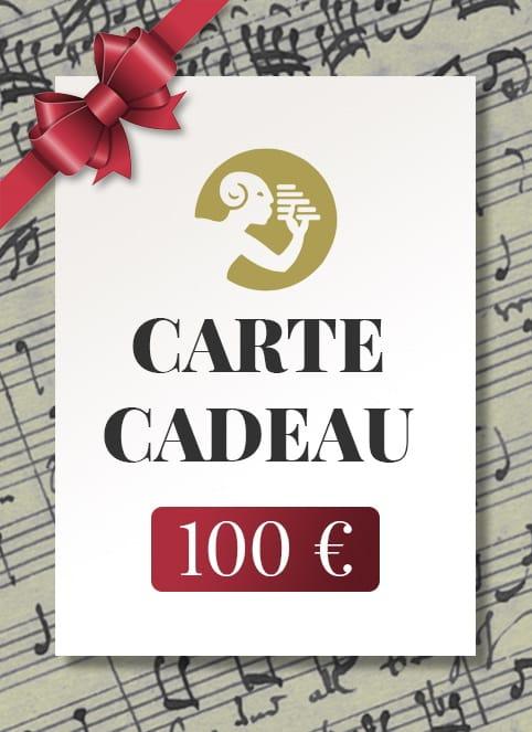 CARTE CADEAU - 100 € - Accessoire - laflutedepan.com