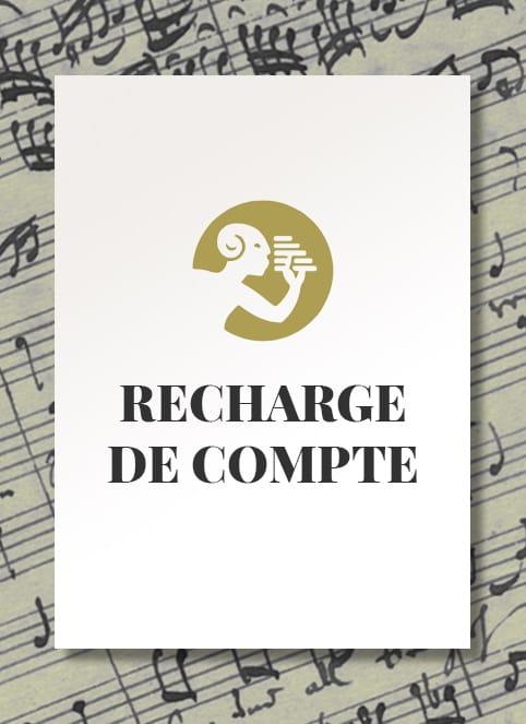 RECHARGE de Compte - 100 € - Accessoire - laflutedepan.com
