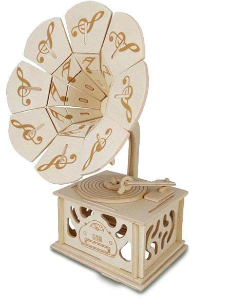 Gramophone en bois à construire en Kit - laflutedepan.com