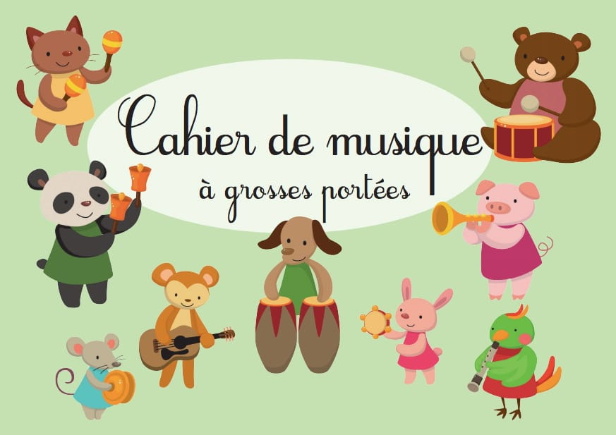 Cahier de Musique à Grosses Portées - laflutedepan.com