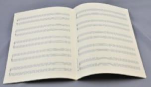 Papier à Musique - Music Paper - Special PIANO - A4 Size - Papier - di-arezzo.co.uk