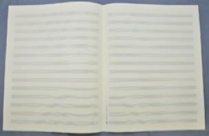 Papier à Musique - Music Paper - 14 Spans - Jesus Format - Papier - di-arezzo.com
