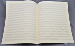 Papier à Musique en feuilles - Music paper - 16 litters - Jesus size - Papier - di-arezzo.co.uk
