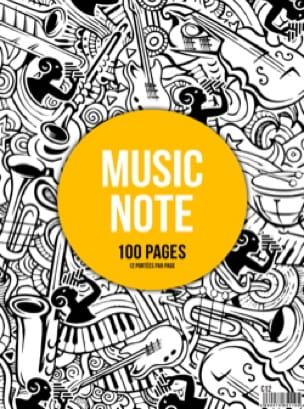 Cahier de Musique - Spiral Music Notebook - 12 Spans - MUSIC NOTE - Papier - di-arezzo.co.uk