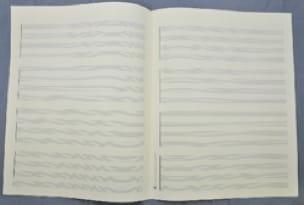 Papier à Musique - Music Paper - Special HARMONY or QUATUOR - Format Jesus - Papier - di-arezzo.co.uk