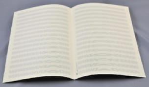 Papier à Musique - Music Paper - 16 Spans - A4 Size - Papier - di-arezzo.co.uk