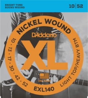 Cordes pour Guitare - ADDARIO String Set for Electric Guitar EXL140 LTHB 10/52 Nickel Wound - Accessoire - di-arezzo.com