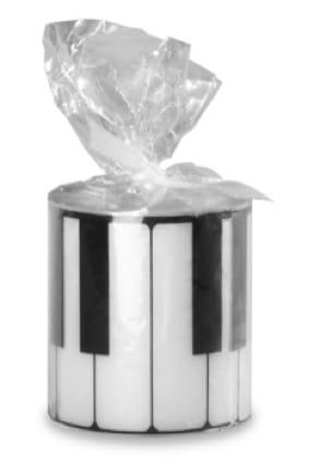 Bougie ronde - Clavier de Piano - Cadeaux - Musique - laflutedepan.com