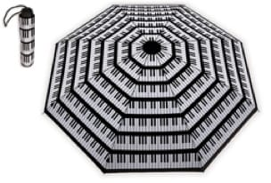 Cadeaux - Musique - Pequeño paraguas BLACK - PIANO KEYBOARD - Accessoire - di-arezzo.es