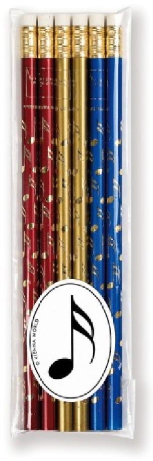 Cadeaux - Musique - Set of 6 colored pencils - DOUBLE CROCHE - Accessoire - di-arezzo.co.uk