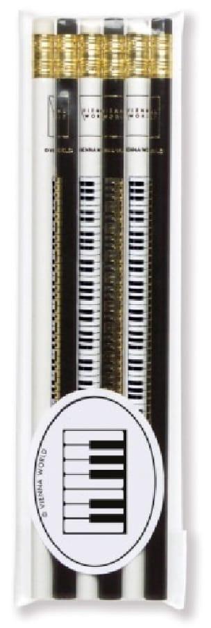 Cadeaux - Musique - Set de 6 crayons - CLAVIER DE PIANO - Accessoire - di-arezzo.fr