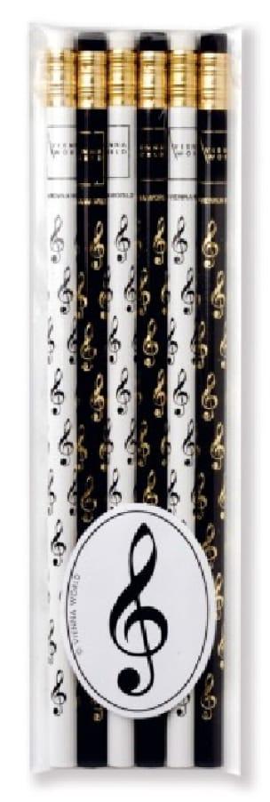 Cadeaux - Musique - Set de 6 crayons - CLÉ DE SOL - Accessoire - di-arezzo.fr