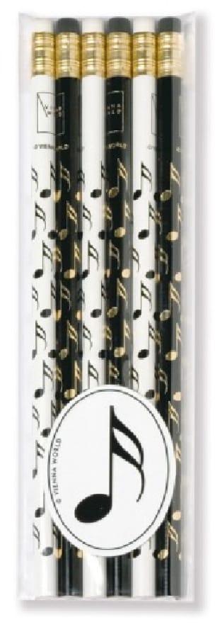 Cadeaux - Musique - Set de 6 crayons - Double-Croche - Accessoire - di-arezzo.fr
