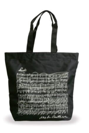 Sac Shopping - NOIR - BEETHOVEN - Cadeaux - Musique - laflutedepan.com