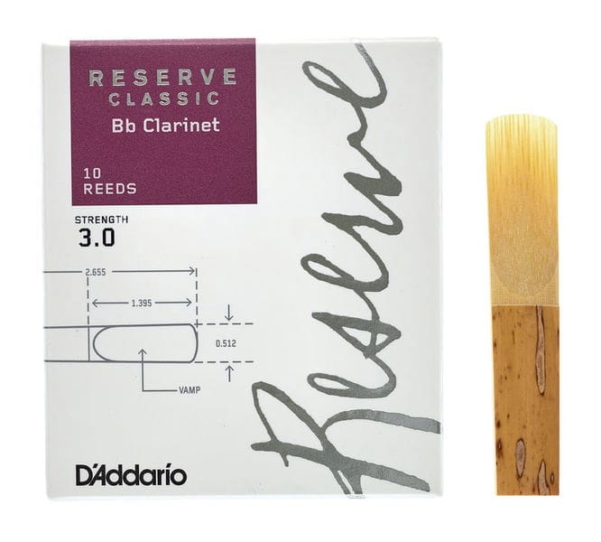 Anches pour Clarinette Sib RICO® - D'Addario Reserve Classic - Bb Clarinet Reeds 3.0 - Accessoire - di-arezzo.com