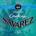 JEU de Cordes pour Guitare SAVAREZ CANTIGA CREATION BLEU tirant fort - laflutedepan.com
