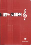 Cahier de Musique CLAIREFONTAINE - 10 portées - Format A4 laflutedepan.com