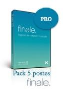 Logiciel FINALE 25 - COMPLET - LabPack 5 Postes laflutedepan.com