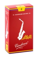 Boite de 10 anches VANDOREN série JAVA RED pour SAXOPHONE ALTO force 2 - laflutedepan.com