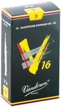 Boite de 10 anches VANDOREN série V16 pour SAXOPHONE SOPRANO force 3 - laflutedepan.com