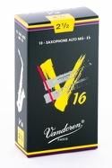 Boite de 10 anches VANDOREN série V16 pour SAXOPHONE ALTO force 2,5 - laflutedepan.com