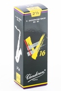 Boite de 5 anches VANDOREN série V16 pour SAXOPHONE TENOR force 2,5 - laflutedepan.com