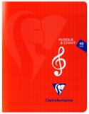 Cahier de Musique CLAIREFONTAINE - Musique et Chant laflutedepan.com