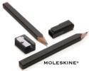 Set crayons à papier noirs, taille-crayon et capuchon MOLESKINE - laflutedepan.com