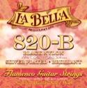 JEU de Cordes pour Guitare LA BELLA 820-B Elite – Flamenco Black Nylon - laflutedepan.com