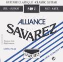 JEU de Cordes pour Guitare SAVAREZ ALLIANCE BLEU fort tirant laflutedepan.com