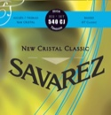 JEU de Cordes pour Guitare SAVAREZ CRISTAL CLASSIC BLEU tension forte - laflutedepan.com