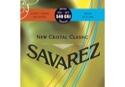JEU de Cordes pour Guitare SAVAREZ CRISTAL CLASSIC ROUGE / BLEU tension mixte - laflutedepan.com
