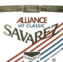 JEU de Cordes pour Guitare SAVAREZ ALLIANCE ROUGE / BLEU tirant standard - laflutedepan.com