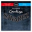 JEU de Cordes pour Guitare SAVAREZ CANTIGA ALLIANCE BLEU / ROUGE tension mixte - laflutedepan.com