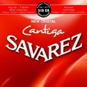 JEU de Cordes pour Guitare SAVAREZ CANTIGA NEW CRISTAL ROUGE tension normal - laflutedepan.com