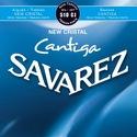 JEU de Cordes pour Guitare SAVAREZ CANTIGA NEW CRISTAL BLEU tension forte laflutedepan.com