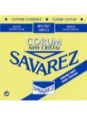 JEU de Cordes pour Guitare SAVAREZ NEW CRISTAL CORUM BLEU tension forte laflutedepan.com