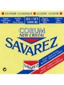 JEU de Cordes pour Guitare SAVAREZ NEW CRISTAL CORUM ROUGE / BLEU tension mixt laflutedepan.com